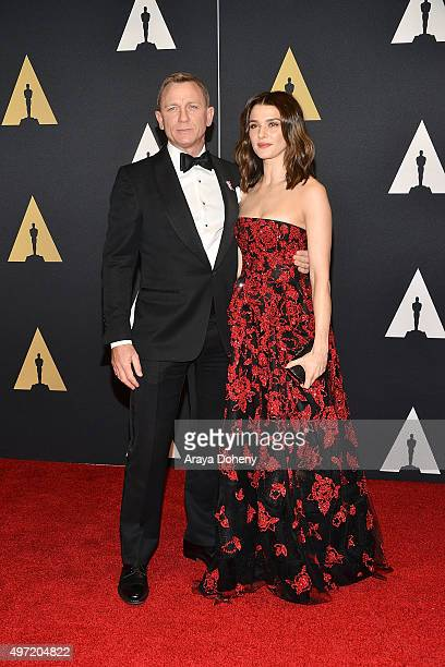 Daniel Craig and Rachel Weisz attend the Academy of Motion Picture Arts and Sciences' 7th Annual Governors Awards at The Ray Dolby Ballroom at...