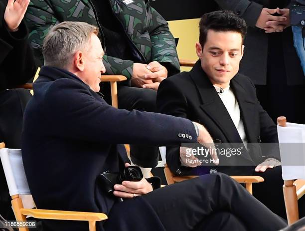 Daniel Craig and Rami Malek are seen outside Good Morning America on December 4 2019 in New York City