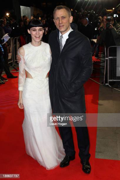 Daniel Craig and Rooney Mara attend the world premiere of The Girl With The Dragon Tattoo at The Odeon Leicester Square on December 12 2011 in London...