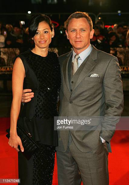 Daniel Craig and Satsuki Mitchell arrive for the European Film Premiere of 'Defiance' at the Odeon Leicester Square on January 6 2009 in London...