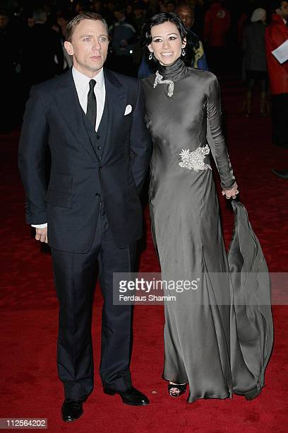 Daniel Craig and Satsuki Mitchell attend The Golden Compass world premiere held at the Odeon Leicester Square on November 27 2007 in London England