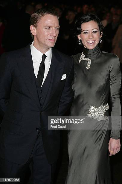 Daniel Craig and Satsuki Mitchell attend the world premiere of 'The Golden Compass' at the Odeon Leicester Square November 27 2007 in London England