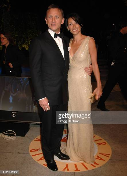 Daniel Craig and Satsuki Mitchell during 2007 Vanity Fair Oscar Party Hosted by Graydon Carter Arrivals at Mortons in West Hollywood California...