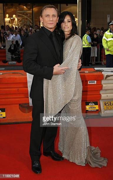 Daniel Craig and Satsuki Mitchell during Casino Royale Australian Premiere Red Carpet at State TheatreSydney in Sydney NSW Australia