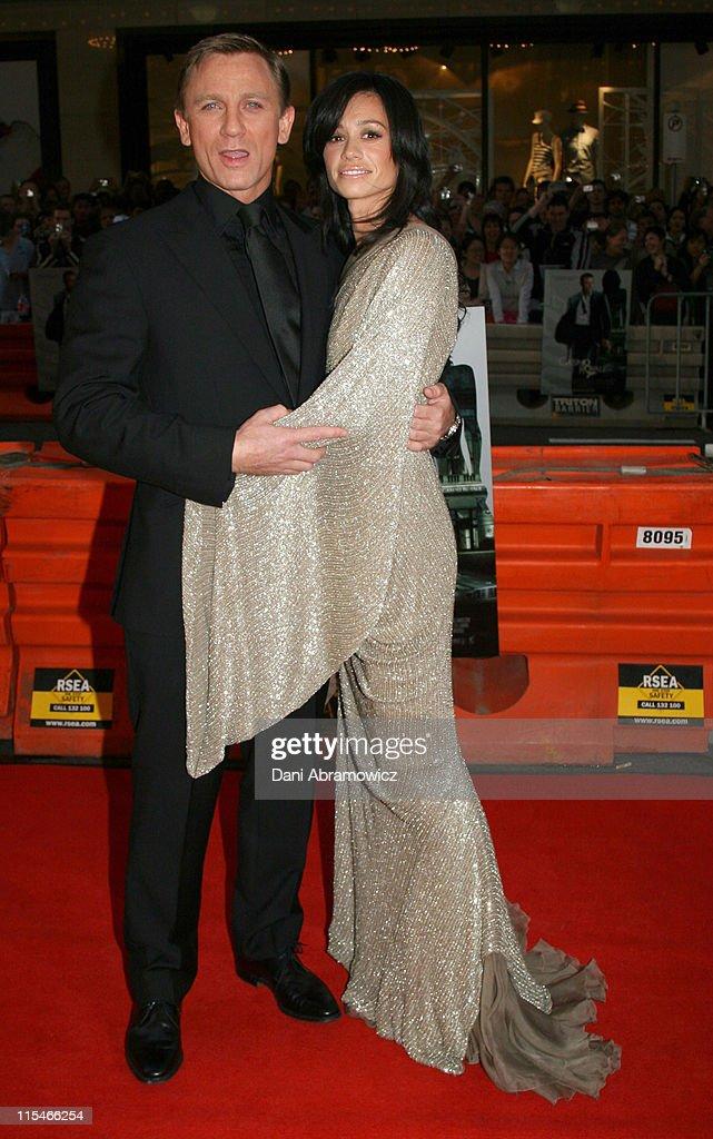 Daniel Craig and Satsuki Mitchell during Casino Royale Australian Premiere - Red Carpet at State Theatre in Sydney, NSW, Australia.