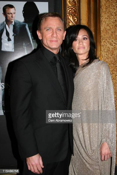Daniel Craig and Satsuki Mitchell during Casino Royale Australian Premiere Red Carpet at State Theatre in Sydney NSW Australia