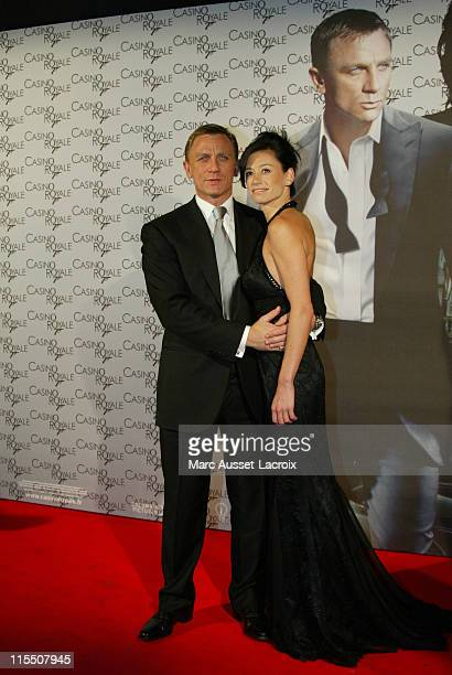 Daniel Craig and Satsuki Mitchell during Casino Royale Paris Premiere Outside Arrivals at The Grand Rex in Paris France