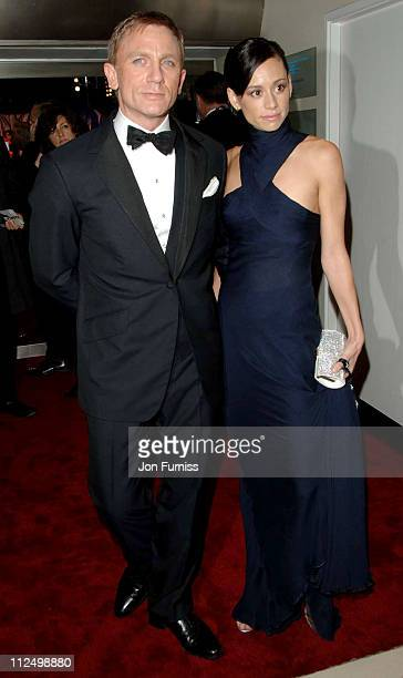 Daniel Craig and Satsuki Mitchell during Casino Royale World Premiere Inside Arrivals at Odeon Leicester Square in London Great Britain