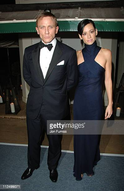 Daniel Craig and Satsuki Mitchell during Casino Royale World Premiere After Party Inside at Berkeley Square in London Great Britain