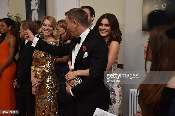 Daniel Craig and wife Rachel Weisz attend The Cinema and Television Benevolent Fund's Royal Film Performance 2015 of the 24th James Bond Adventure...