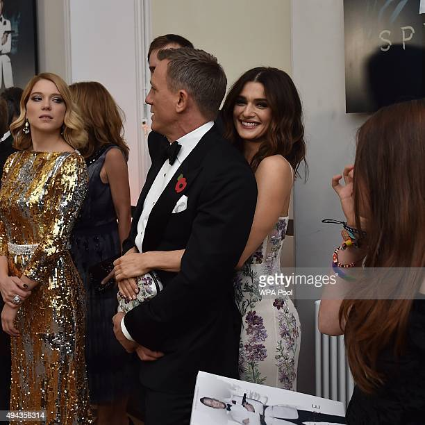 Daniel Craig and wife Rachel Weisz attend The Cinema and Television Benevolent Fund's Royal Film Performance 2015 of the 24th James Bond Adventure,...