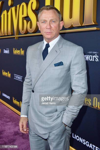 Daniel Craig arrives at the Premiere of Lionsgate's 'Knives Out' at Regency Village Theatre on November 14, 2019 in Westwood, California.