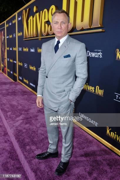 Daniel Craig arrives at the Premiere of Lionsgate's 'Knives Out' at Regency Village Theatre on November 14 2019 in Westwood California