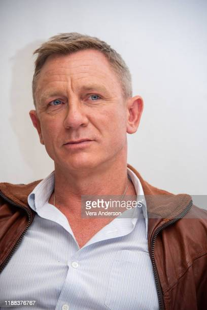 """Daniel Craig at the """"Knives Out"""" Press Conference at the Four Seasons Hotel on November 15, 2019 in Beverly Hills, California."""
