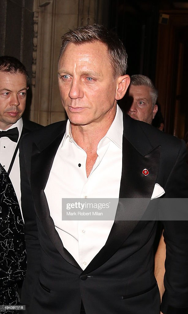 Daniel Craig attending the Spectre Premiere after party at the British Museum on October 26, 2015 in London, England.