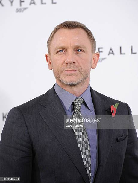 Daniel Craig attends a photo call with cast and filmmakers to mark the start of production on the 23rd Bond film 'Skyfall' at Massimo Restaurant...