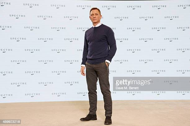 Daniel Craig attends a photocall with cast and filmmakers to mark the start of production which is due to commence on the 24th Bond Film and announce...