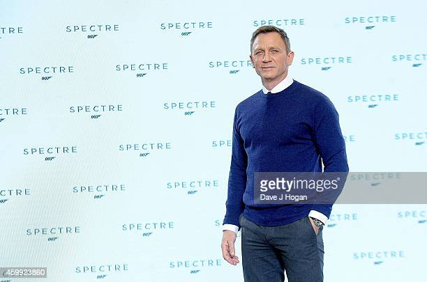 Daniel Craig attends a photocall with cast and filmmakers to mark the start of the production of the 24th Bond Film and announce the film's title as...