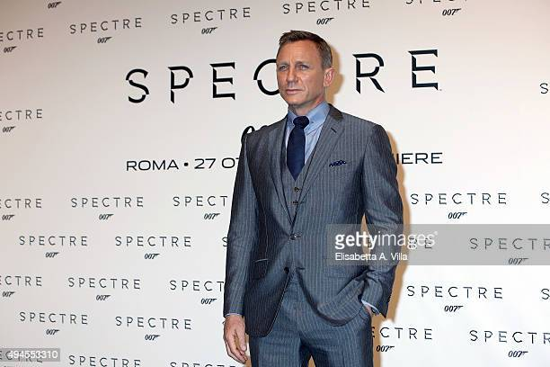 Daniel Craig attends a red carpet for 'Spectre' on October 27 2015 in Rome Italy