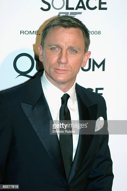 Daniel Craig attends 'Quantum Of Solace' premiere at the Warner Village Moderno cinema on November 5 2008 in Rome Italy