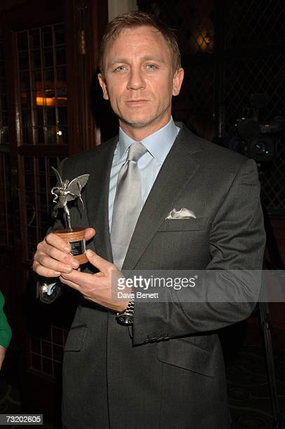 Daniel Craig attends the Evening Standard British Film Awards 2007 dinner at the Ivy on February 4 2007 in London England