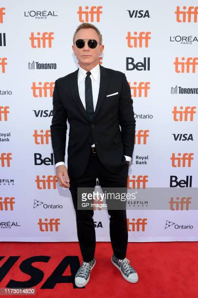 Daniel Craig attends the Knives Out premiere during the 2019 Toronto International Film Festival at Princess of Wales Theatre on September 07 2019 in...