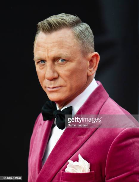 """Daniel Craig attends the """"No Time To Die"""" World Premiere at Royal Albert Hall on September 28, 2021 in London, England."""