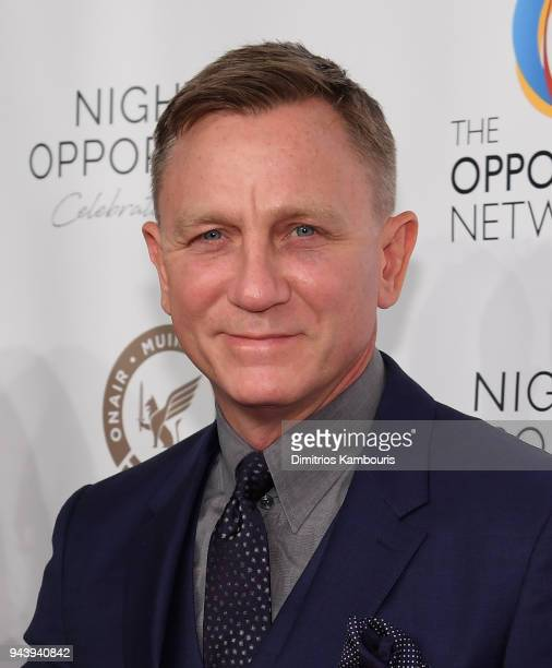 Daniel Craig attends The Opportunity Network's 11th Annual Night of Opportunity at Cipriani Wall Street on April 9 2018 in New York City