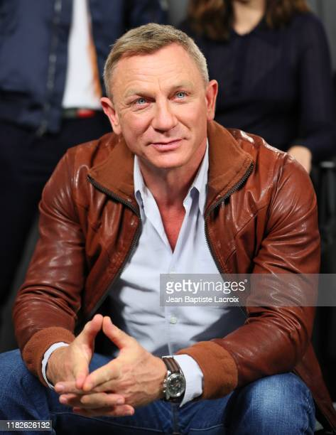 Daniel Craig attends the photocall for Lionsgate's Knives Out at Four Seasons Hotel Los Angeles at Beverly Hills on November 15 2019 in Los Angeles...
