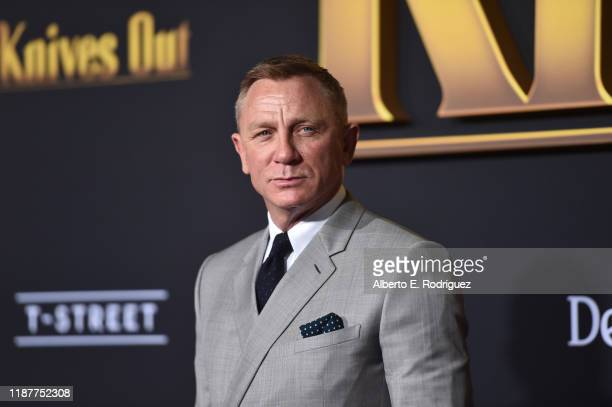 """Daniel Craig attends the premiere of Lionsgate's """"Knives Out"""" at Regency Village Theatre on November 14, 2019 in Westwood, California."""
