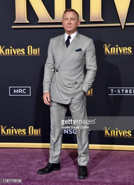 Daniel Craig attends the Premiere of Lionsgate's Knives Out at Regency Village Theatre on November 14 2019 in Westwood California