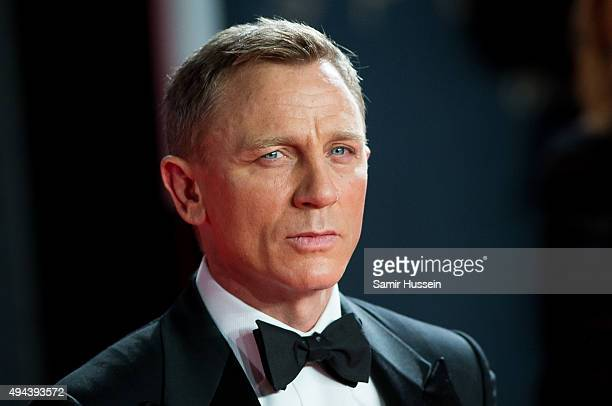 Daniel Craig attends the Royal Film Performance of Spectre at Royal Albert Hall on October 26 2015 in London England