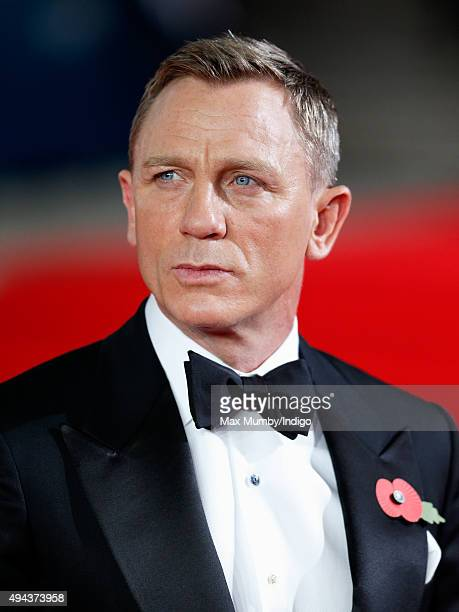 Daniel Craig attends the Royal Film Performance of 'Spectre' at The Royal Albert Hall on October 26 2015 in London England
