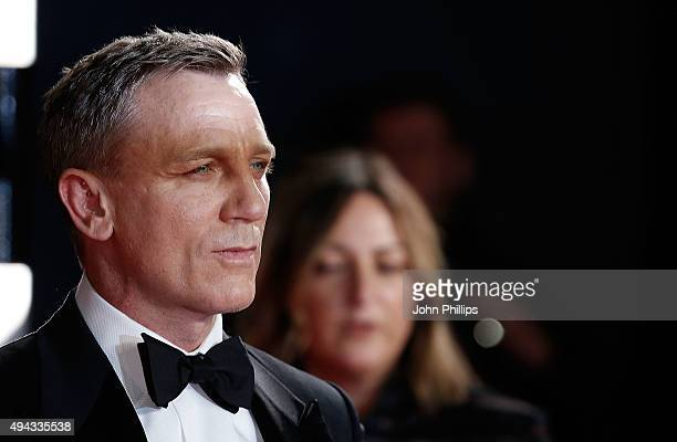 Daniel Craig attends the Royal Film Performance of Spectreat Royal Albert Hall on October 26 2015 in London England