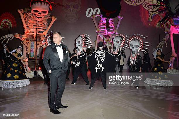 Daniel Craig attends the Royal World Premiere after party of Spectre at The British Museum on October 26 2015 in London England