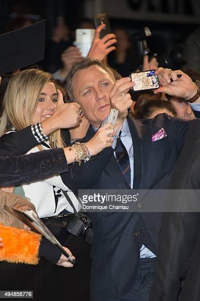 Daniel Craig attends the 'Spectre' Paris Premiere at Le Grand Rex on October 29 2015 in Paris France