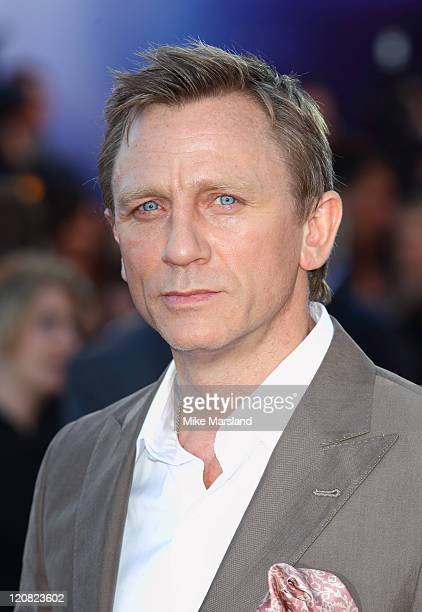 Daniel Craig attends the UK premiere of 'Cowboys Aliens' at Cineworld 02 Arena on August 11 2011 in London England