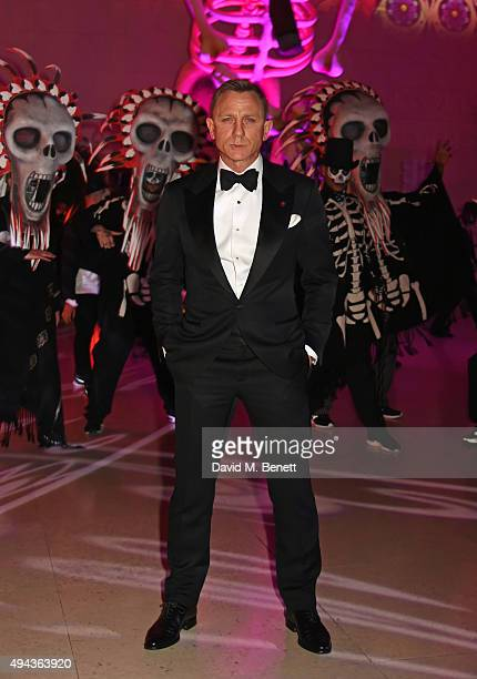 Daniel Craig attends the World Premiere after party of 'Spectre' at The British Museum on October 26 2015 in London England
