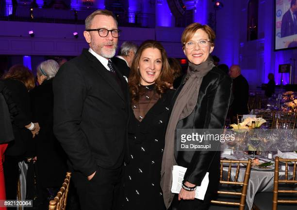 Daniel Craig Barbara Broccoli and Annette Bening attend the Museum of the Moving Image Salute to Annette Bening at 583 Park Avenue on December 13...