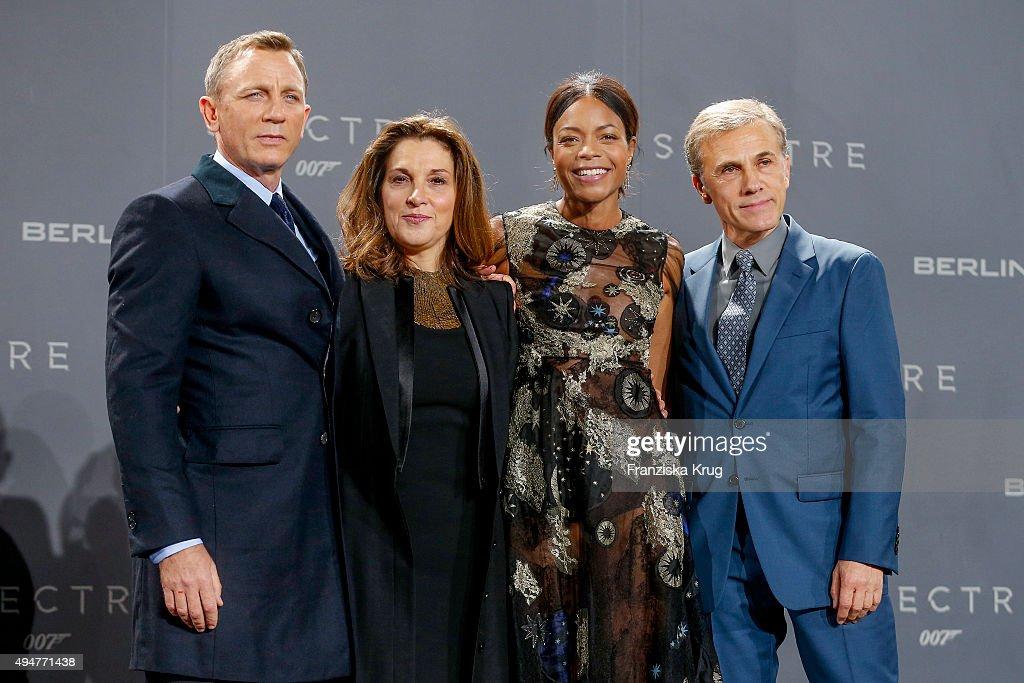 Daniel Craig, Barbara Broccoli, Naomie Harris and Christoph Waltz attends the Spectre' German Premiere on October 28, 2015 in Berlin, Germany.