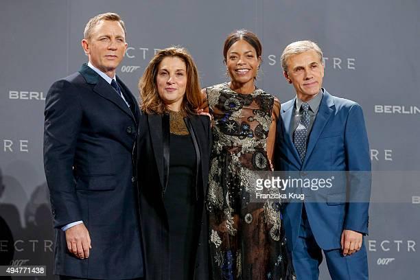 Daniel Craig Barbara Broccoli Naomie Harris and Christoph Waltz attends the Spectre' German Premiere on October 28 2015 in Berlin Germany