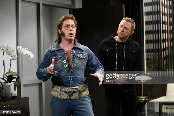 LIVE Daniel Craig Episode 1782 Pictured Beck Bennett as Franklin Hughes and host Daniel Craig as himself during the Accent Coach sketch on Saturday...