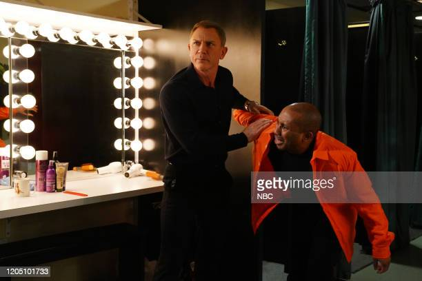 LIVE Daniel Craig Episode 1782 Pictured Host Daniel Craig and Chris Redd during Promos backstage in Studio 8H on Tuesday March 3 2020