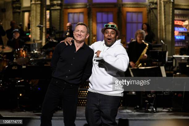 LIVE Daniel Craig Episode 1782 Pictured Host Daniel Craig and Kenan Thompson during the monologue on Saturday March 7 2020