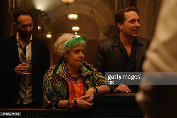 LIVE Daniel Craig Episode 1782 Pictured Kate McKinnon and Beck Bennett during the James Bond Scene sketch on Saturday March 7 2020