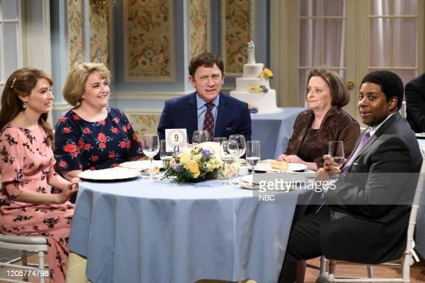 LIVE Daniel Craig Episode 1782 Pictured Melissa Villaseñor Aidy Bryant host Daniel Craig Rachel Dratch as Debbie Downer and Kenan Thompson during the...
