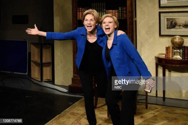 LIVE Daniel Craig Episode 1782 Pictured Senator Elizabeth Warren as herself and Kate McKinnon as senator Elizabeth Warren during the Ingraham Angle...