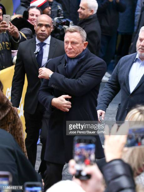 Daniel Craig is seen arriving at 'Good Morning America' show on December 04 2019 in New York City