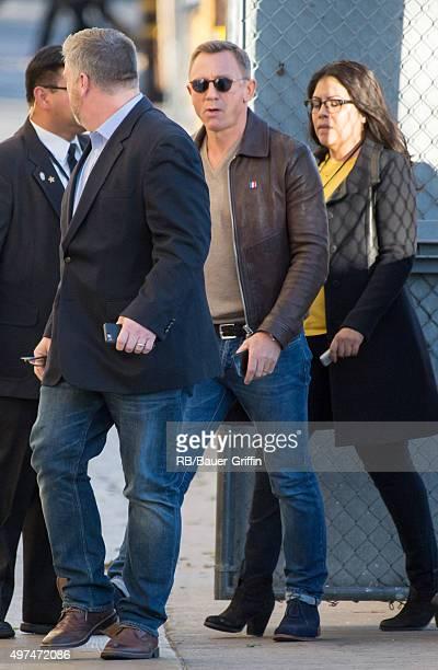 Daniel Craig is seen at 'Jimmy Kimmel Live' on November 16 2015 in Los Angeles California