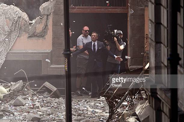 Daniel Craig is seen filming Spectre the new James Bond on March 24 2015 in Mexico City Mexico
